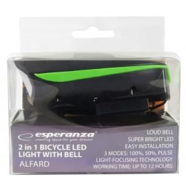 ESPERANZA Εμπρόσθιος φωτισμός ποδηλάτου Alfard EOT023, 180lm, με κόρνα