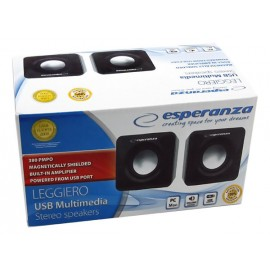 ESPERANZA Multimedia ηχεία Leggiero EP111, 2.0ch, 2x 3W RMS, USB, Aux in