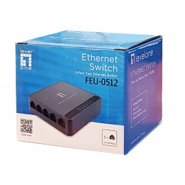 LEVELONE Ethernet switch FEU-0512, 5-port 10/100Mbps, Ver. 1.0