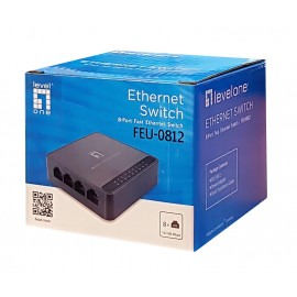 LEVELONE Ethernet switch FEU-0812, 8-port 10/100Mbps, Ver. 1.0