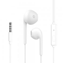 CELEBRAT earphones G12 με μικρόφωνο, 14.2mm, 1.2m, λευκό