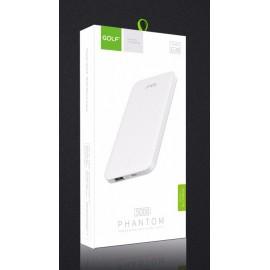 GOLF Power bank Phantom G38-WH 5000mAh, 1x USB, Micro input, 1A, λευκό