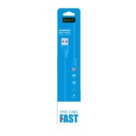 GOLF Καλώδιο USB 2.0 σε USB Micro, Diamond, Color Box, 1m, Blue