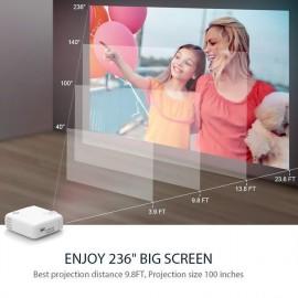 VANKYO LED βιντεοπροβολέας Leisure430, 1080p, ηχεία, λευκό