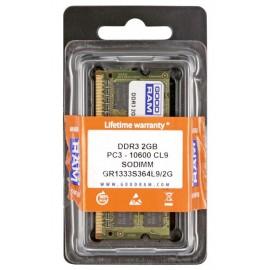 GOODRAM  so-dimm μνήμη τύπου DDR3, 2GB , 1333 , 10600