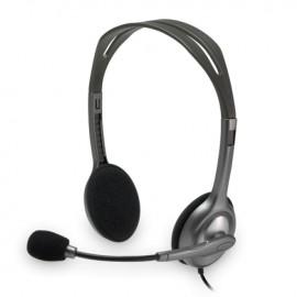 LOGITECH Σετ μικρόφωνου-ακουστικού H110, 2x 3.5mm, 1.8m, μαύρα