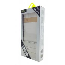 GOLF Power Bank Helix 12 12000mAh, 2x USB, Micro - 8pin, White