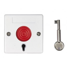 Ενσύρματο Κουμπί Πανικού με κλειδί απενεργοποίησης, White