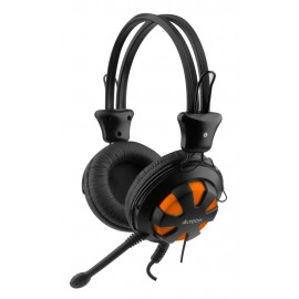 A4TECH Headset HS-28, 3.5mm, 40mm ακουστικά, πορτοκαλί