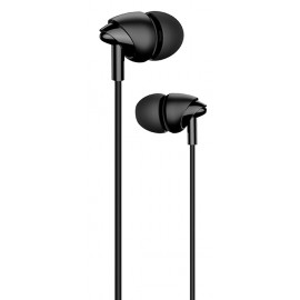 USAMS earphones με μικρόφωνο EP-39, 10mm, 1.2m, μαύρα