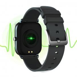 """ΙΝΤΙΜΕ Smartwatch P8, 1.4"""" έγχρωμο, IPX7, HR & Blood pressure, μαύρο"""