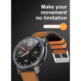 """ΙΝΤΙΜΕ Smartwatch L11, 1.3"""" έγχρωμο, IP68, HR & Blood pressure, μαύρο"""