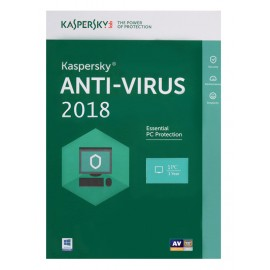 KASPERSKY Anti-Virus 2018, 1 Άδεια, 1 έτος, EU