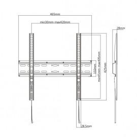 "BRATECK Επιτοίχια Βάση KL25-44F για Monitor 32""-55"", 35kg"