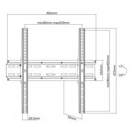"""BRATECK Επιτοίχια βαση KL25-44T, για οθόνη 32""""-55"""", έως 35kg"""