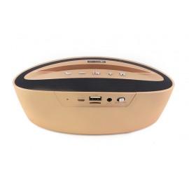 KISONLI Φορητό ηχείο stand M2, BT/SD/Aux/USB/FM, Power bank, χρυσό