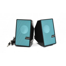 KISONLI Multimedia ηχεία S-555, 2.0 ch, 2x 3W, USB, μπλε
