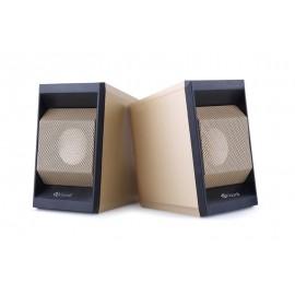 KISONLI Multimedia ηχεία Τ-006, 2.0ch, 2x 3W,  USB/Jack 3.5mm, χρυσά