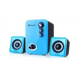 KISONLI Multimedia ηχεία U-2100, 2.1ch, 5W & 2x 3W, USB, μπλε
