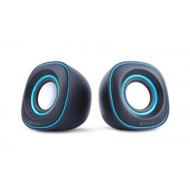 KISONLI Multimedia Ηχεία V350, 2.0ch, 2x 3W, USB, μπλε