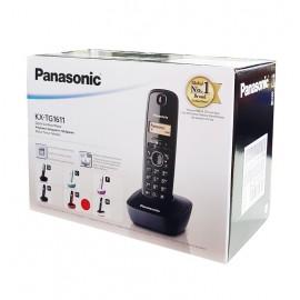 PANASONIC ασύρματο τηλέφωνο με ελληνικό μενού, μαύρο