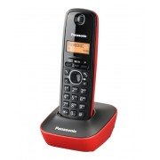 Panasonic ασύρματο τηλέφωνο με ελληνικό μενού - σε χρώμα RED/BLACK