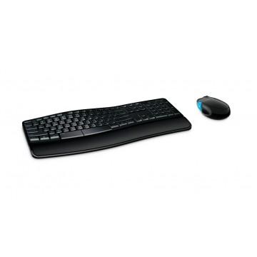 MICROSOFT set ποντίκι & πληκτρολόγιο L3V-00015, ασύρματα, ανατομικά