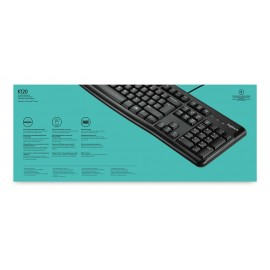 LOGITECH Ενσύρματο πληκτρολόγιο K120, USB, 1.5m, μαύρο