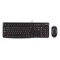 LOGITECH set ποντίκι & πληκτρολόγιο MK120, ενσύρματα, μαύρα