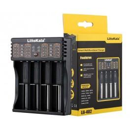 LIITOKALA φορτιστής LII-402 για μπαταρίες NiMH/CD, Li-Ion, IMR, 4 slots