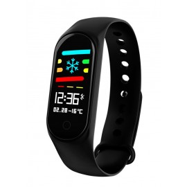 LEMFO Smart Bracelet M3, Blood Pressure & Heart Rate Monitor, μαύρο