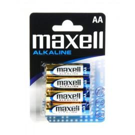 MAXELL Αλκαλικές μπαταρίες μεγέθους AA Συσκευασία μπλίστερ 4 τεμαχίων