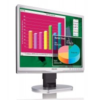 """PHILIPS used οθόνη 190B9 LCD, 19"""" 1280x1024, VGA/DVI-D, με ηχεία, FQ"""