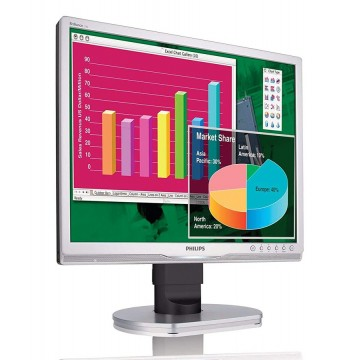 """PHILIPS used οθόνη 190B9 LCD, 19"""" 1280x1024, VGA/DVI-D, με ηχεία, FQC"""