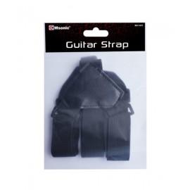 MSONIC Ζώνη κιθάρας MA1401, ρυθμιζόμενη, Black