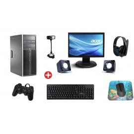 Bundle PC PC-495-SQR με Οθόνη, περιφερειακά και Windows 10 MAR