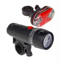 MACLEAN ENERGY Σετ φωτισμού ποδηλάτου MCE38, μαύρο