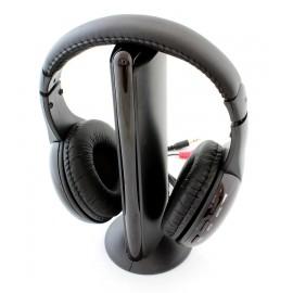 Ασύρματα ακουστικά MH2001 με FM tuner, 3.5mm, μαύρα