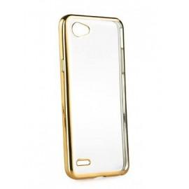 POWERTECH Θήκη Metal TPU για LG Q6, Gold