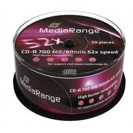 MEDIARANGE CD-R 52x 700MB/80min Cake 50τμχ