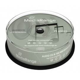 MEDIA RANGE AUDIO CD-R 80 min, 700MB, 52x, 25τμχ Cake box