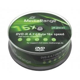MEDIARANGE DVD-R 4,7 GB 16X Cake 25τμχ
