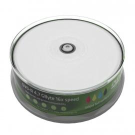 MEDIARANGE DVD-R, 4.7GB, 16x, inkjet FF print, 25τμχ Cake box
