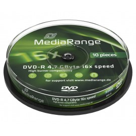 MEDIA RANGE DVD-R, 4.7GB, 16x, 10τμχ Cake box