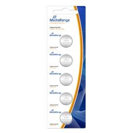 MEDIARANGE Μπαταρία λιθίου κουμπιά 3v CR1616 - Συσ.5 τμχ