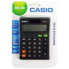 CASIO Αριθμομηχανή MS-8B, Μεγάλη Οθόνη, Profit Margin, Blister