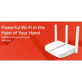 MERCUSYS Wireless N Router MW305R, 300Mbps, 4x 10/100Mbps, Ver. 2
