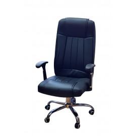 TNS Καρέκλα διευθυντή OFF-CHR-PAI-201, ρυθμιζόμενη, ανακλινόμενη, μαύρη