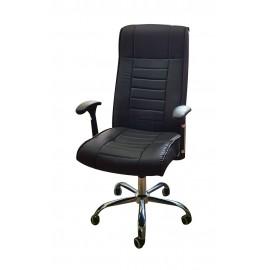 TNS Καρέκλα διευθυντή OFF-CHR-PAI-202, ρυθμιζόμενη, ανακλινόμενη, μαύρη