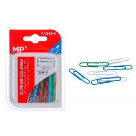 MP πλαστικοποιημένοι συνδετήρες PA342-6, 50mm, 25τμχ, χρωματιστοί
